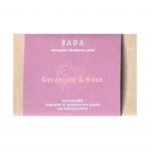 økologisk geranium og rose sæbe